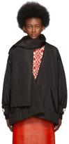 Gucci Black Taffeta Oversized Jacket