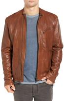 John Varvatos Laser-Cut Genuine Leather Jacket