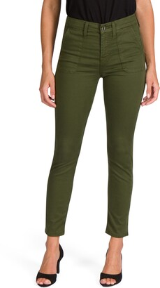 JEN7 by 7 For All Mankind Military Sateen Ankle Skinny Jeans