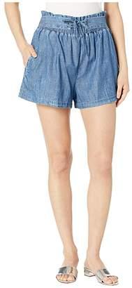 BCBGeneration Tie Front Paper Bag Waist Shorts TDQ7211531