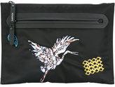 Lanvin crane patch detail clutch - men - Polyamide/Calf Leather/Polyester - One Size