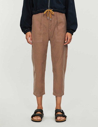 Citizens of Humanity Harrison tapered high-rise cotton trousers