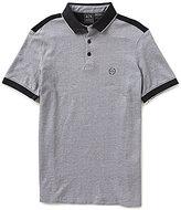 Armani Exchange Pique Shoulder Tap Short-Sleeve Polo Shirt