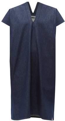 MM6 MAISON MARGIELA V-neck Raw-denim Dress - Womens - Denim