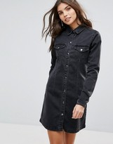 Vila Denim Shirt Dress