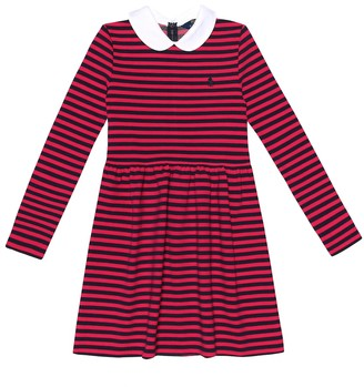 Polo Ralph Lauren Kids Striped stretch-cotton dress