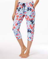 Layla Peace.Sleep.Love Printed Knit Capri Pajama Pants