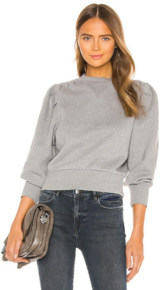 Frame Shirred Sweatshirt