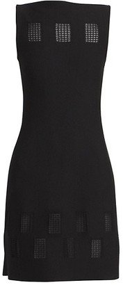 Alaia Finestrelle Pointelle Square Sheath Dress