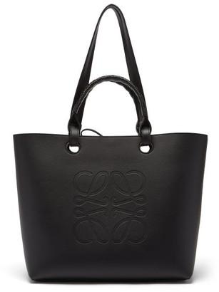Loewe Anagram-debossed Leather Tote Bag - Black