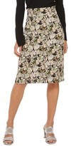 Topshop Women's Floral Palm Print Pencil Skirt