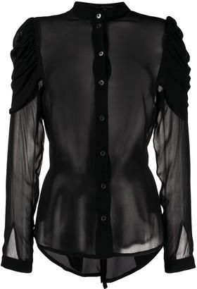 Ann Demeulemeester Structured Shoulders Sheer Shirt