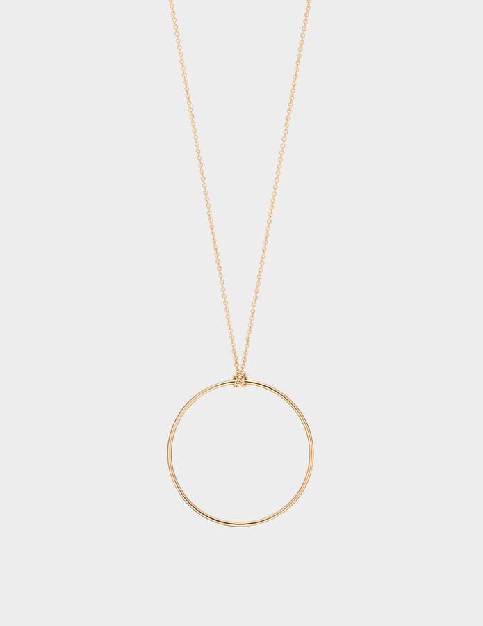 ginette_ny Baby Circle 18-karat rose gold necklace