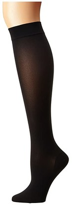 Wolford Satin Opaque Nature Knee Highs (Black) Knee high Hose