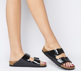 Birkenstock Arizona Two Strap Sandals Black Patent