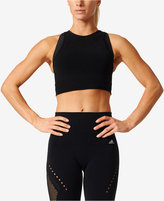 adidas ClimaLite Cropped Racerback Tank Top