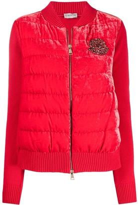 Moncler Padded-Body Beaded-Logo Jacket
