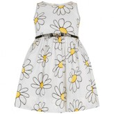 Girls White Daisy Print Dress