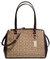 Coach Stanton Carryall in Signature Canvas. Light Gold Hardware Khaki/brown 36912
