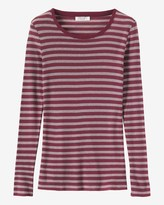 Toast Fine Stripe Wool/Tencel Tee