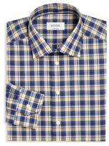 Eton Plaid Regular-Fit Dress Shirt