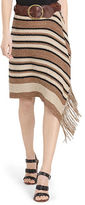 Polo Ralph Lauren Fringe-Trimmed Knit Wrap Skirt