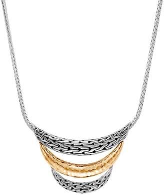 John Hardy Chain Bonded 18K Yellow Gold & Sterling Silver Bib Necklace