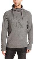 Calvin Klein Jeans Men's Vintage Logo Funnel Knit Shirt