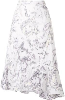 3.1 Phillip Lim Ruffle Hem Skirt