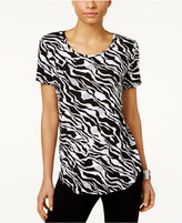 JM Collection Printed T-Shirt, Only at Macy's