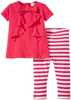 Kate Spade Bow Tee and Legging Set (Baby) - Geranium - 6 Months