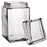 Pasabahce Glass Jar for Biscuits, Lid with Hermetic Closure, 1,5 lt