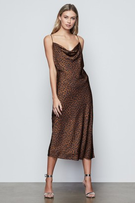 Good American Leopard Slip Dress