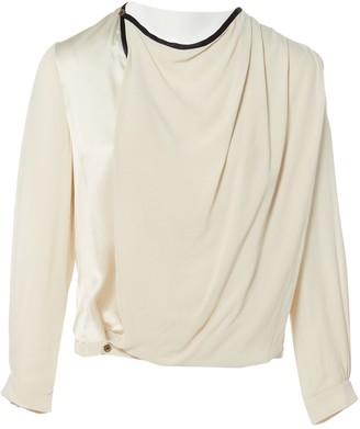 Bouchra Jarrar Ecru Silk Top for Women