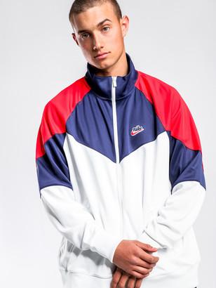 Nike HE WR Zip Through Jacket in White Navy
