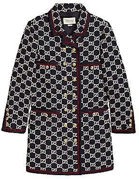 Gucci Women's Macro GG Tweed Caban Coat