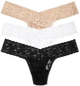 Hanky Panky Stretch Lace Thong - Set Of Three