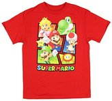 Hybrid Super Mario Big Boys Box Crew T-Shirt (S 6/7)