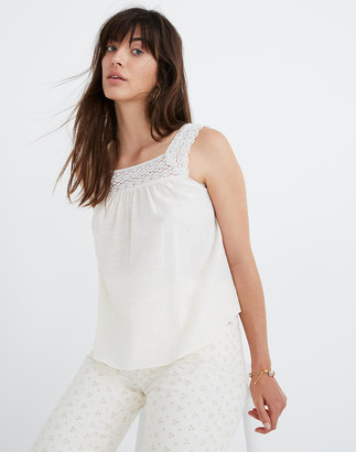 Madewell Petite Crochet Tie-Back Tank Top