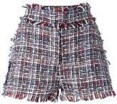 MSGM fringed trim shorts - women - Cotton/Polyamide/Viscose/Virgin Wool - 40