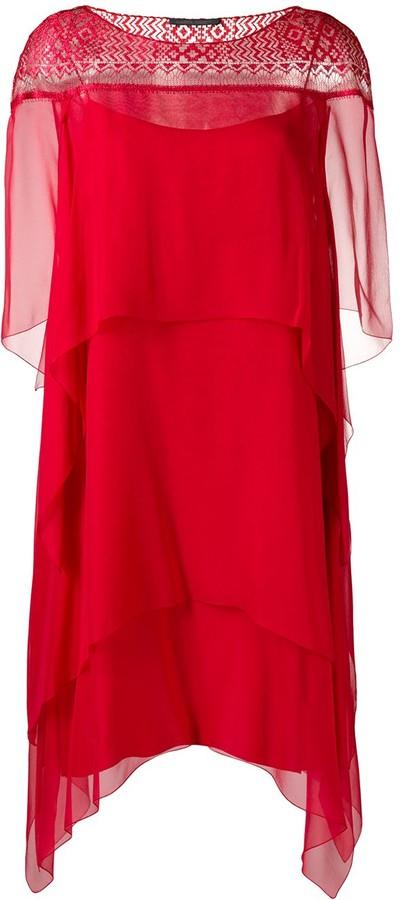 Alberta Ferretti tiered dress