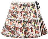 MSGM Preorder Rose Printed Cotton Canvas Skirt