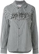 Comme des Garcons frilled gingham shirt - women - Cotton - L