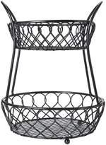 Mikasa Loop & Lattice 2-Tier Countertop Wire Basket