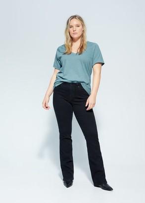 MANGO Violeta BY Organic cotton T-shirt white - S - Plus sizes
