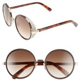 Jimmy Choo Women's 'Andies' 54Mm Round Sunglasses - Rose Gold/ Brown