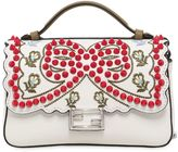 Fendi Micro Double Baguette Studded Bow Bag
