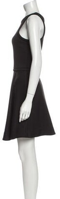 Camilla And Marc Crew Neck Mini Dress Black