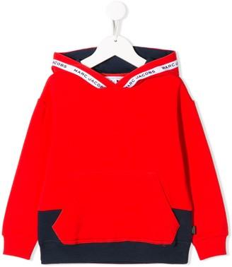 Little Marc Jacobs logo colour-block hoodie