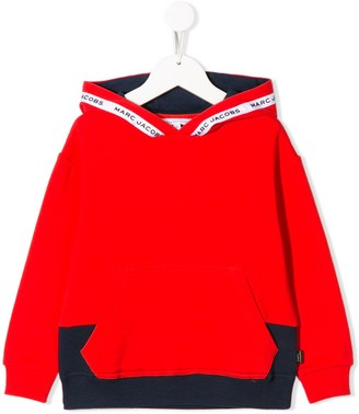 Little Marc Jacobs Logo Colour-Block Hoodie